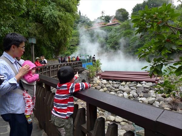 台湾東部の紅葉温泉