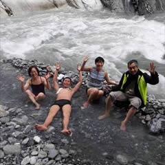 [写真]文山温泉にて